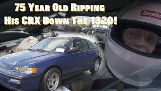 Download Bad Grandpa Ripping His Boosted CRX Down The 1320! Video