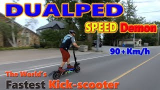 Download Dualped Speed Demon!! World's Fastest Electric Kick-Scooter Video