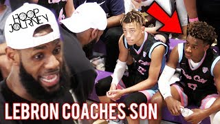 Download LeBron James COACHES Bronny Jr in CHAMPIONSHIP GAME! Balling On The Beach Miami! Video