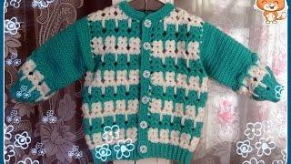 Download Кофточка с котятами ( крючок) Часть 1 - Crocheted children's jacket Video