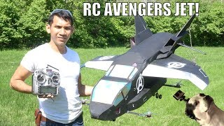 Download Real FLYING avengers Quinjet RC airplane Video