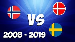 Download DENMARK VS. NORWAY VS. SWEDEN - Eurovision songs 2008 - 2019 battle (My opinion!) Video
