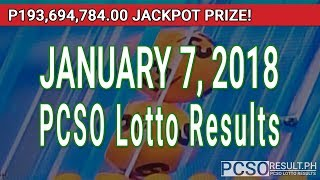 Download PCSO Lotto Results Today January 7, 2018 (6/58, 6/49, Swertres, STL & EZ2) Video