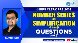 Download IBPS CLERK PRE   Expected Number Series and Simplification Questions   SUMIT SIR   12 P.M. Video