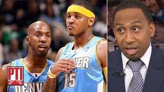 Download Stephen A. calls Chauncey Billups' comments on Carmelo Anthony 'devastating' | PTI Video