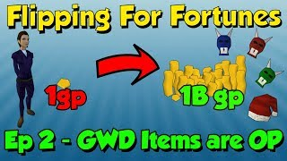 Download Flipping For Fortunes! 1Gp-1B! GWD Items are OP [Runescape 3] Episode #2 Video