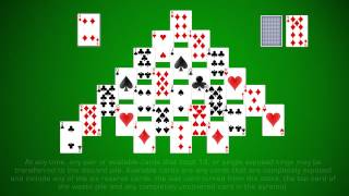 Download How To Play Pyramid Solitaire Video