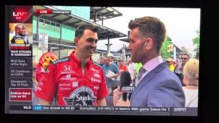 Download Graham Rahal Previews the 2017 Ohio State Buckeyes at the Indy 500 Video