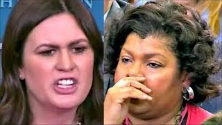 Download Sarah 'Huckabee' Sanders leaves reporter SPEECHLESS when answering on Trump's Bizarre Comments Video