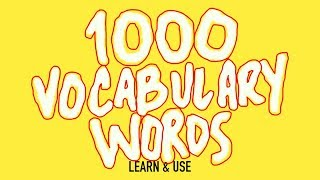 Download How To Learn And Use 1000 English Vocabulary Words Video