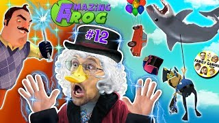 Download DUCKTALES Scrooge McDuck plays AMAZING FROG after Hello Neighbor Magic Trick! (#12 - Shark Balloon) Video