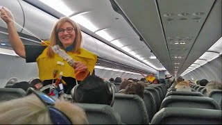 Download World's Funniest Flight Attendant Leaves Passengers In Hysterics Video