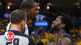 Download Kevin Durant, Patrick Beverley ejected after Game 1 drama | NBA Highlights Video