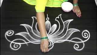 Download rangoli & kolam side and border designs for festivals    Side designs for muggulu Video