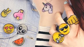 Download DIY: Emoji Accessories | Necklace, Pins, Brooches, Rings & More! Video