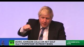 Download 'Puppeteer in proxy wars': Boris Johnson accuses Saudi Arabia of 'abusing Islam' Video