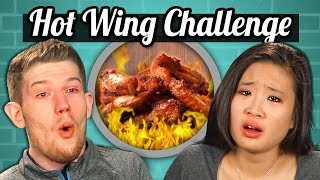 Download ADULTS vs. FOOD - HOT WINGS CHALLENGE Video