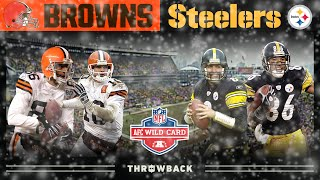 Download An Iron City Classic Comeback! (Browns vs. Steelers, 2002 AFC Wild Card) | NFL Vault Highlights Video