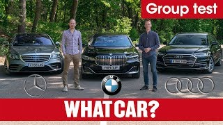 Download 2020 BMW 7 Series vs Audi A8 vs Mercedes S-Class review – ultimate luxury limos tested | What Car? Video