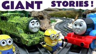 Download Thomas And Friends Minions Funny Pranks Peppa Pig Tom Moss Toy Train Play Doh Surprise Eggs Video