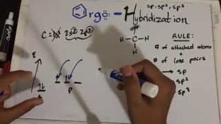 Download sp3, sp2, sp Hybridization and Bond Angles - Organic Chemistry Made Simple Video