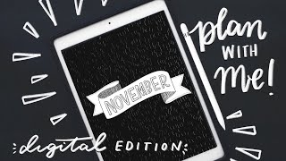 Download Digital Edition! ✨ November Bullet Journal Set-Up iPad Nature Storybook Theme... Video