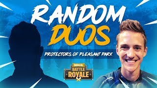 Download Random Duos - Protectors Of Pleasant Park! - Fortnite Battle Royale Gameplay - Ninja Video