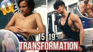 Download MY 20 YEARS YOUNG NATURAL BODY TRANSFORMATION - From SKINNY to ATHLETIC | 15-19 MUSCLE EVOLUTION 💪🏽 Video
