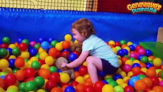 Download Cute Kid Genevieve is Back at Best Indoor Playground for Kids Great Family Fun! Ball Pits & Slides! Video