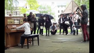 Download 11 year old George Harliono plays Moonlight Sonata (3rd mov) on a Street Piano in the rain. Video