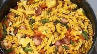 Download Chunky Vegetable Pasta - Sanjeev Kapoor - Khana Khazana Video