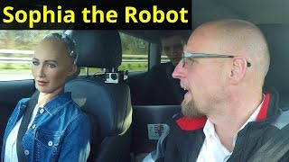 Download Test Drive with Humanoid Robot Sophia - Audi AI Video