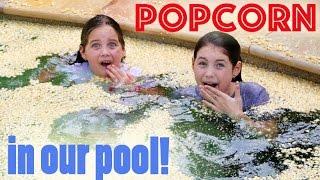 Download POPCORN IN OUR POOL! Kids swimming in popcorn - messy swim Video