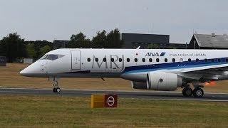 Download MRJが初のデモ飛行 英・ファンボローの航空ショー Video