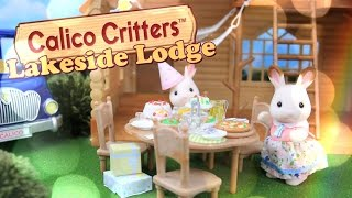 Download Unbox Daily: Calico Critters Lakeside Lodge Gift Set - Mini Figures Play Set Review - 4K Video