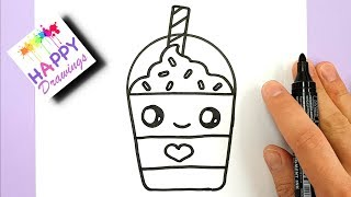 Download How to Draw a Starbucks Frappuccino Cute and EASY | Cartoon Drink Video