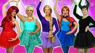 Download DISNEY PRINCESS BALLERINAS. (Ballet Performance with Ariel, Rapunzel, Belle, Elsa, Anna, and Tiana) Video