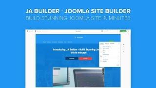 Download JA Builder Introduction - Build stunning Joomla site in minutes Video