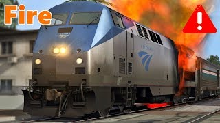 Download Amtrak train on fire Video