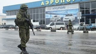 Download Ukraine: 'Invasion' at airport is by Russian soldiers Video