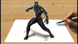 Download 3D Pencil Drawing: Marvel's Black Panther - Speed Draw | Jasmina Susak Video