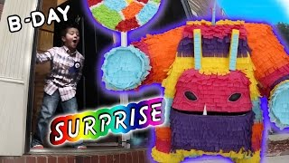 Download Painyatta Surprises Mike on his 6th Birthday (Real Life Piñata Monster) Skylanders Trap Team Party Video