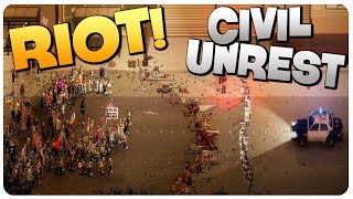 Download REAL RIOT SIMULATOR, Police or Rioters?! | RIOT Civil Unrest Gameplay Video