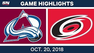 Download NHL Highlights | Avalanche vs. Hurricanes - Oct.20, 2018 Video