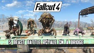 Download Fallout 4 - Battle On A Bridge (Swan, Behemoth, Mirelurk Queen, Deathclaw & Yao Guai) Video