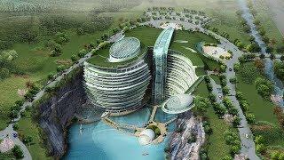 Download Shanghai's Underwater Quarry Hotel | The B1M Video