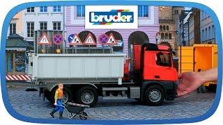 Download Mercedes-Benz Arocs LKW mit Abrollcontainer - 03622 - BRUDER Spielwaren Video