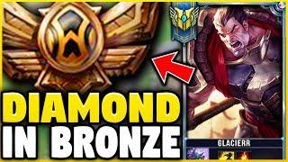Download I TOOK MY DARIUS INTO BRONZE 5! DIAMOND DARIUS MAIN VS BRONZE ELO! - League of Legends Video