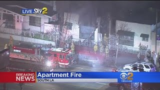 Download Fire Rips Through South LA Apartment Video
