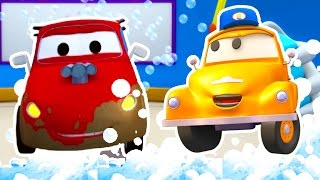 Download Tom the Tow Truck's Car Wash and Jerry The Racing Car | Truck cartoons for kids Video